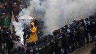 زد و خورد پلیس با مخالفان دولت در تیرانا