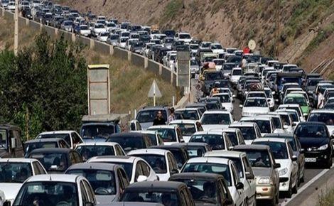 ترافیکی سنگین در محورهای ورودی شمال