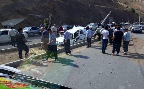 تصادف جاده «دهق» ۱۰ کشته و مصدوم برجای گذاشت