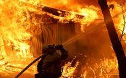 مهار آتش سوزی مهیب در ایالت فیلادلفیای آمریکا+فیلم