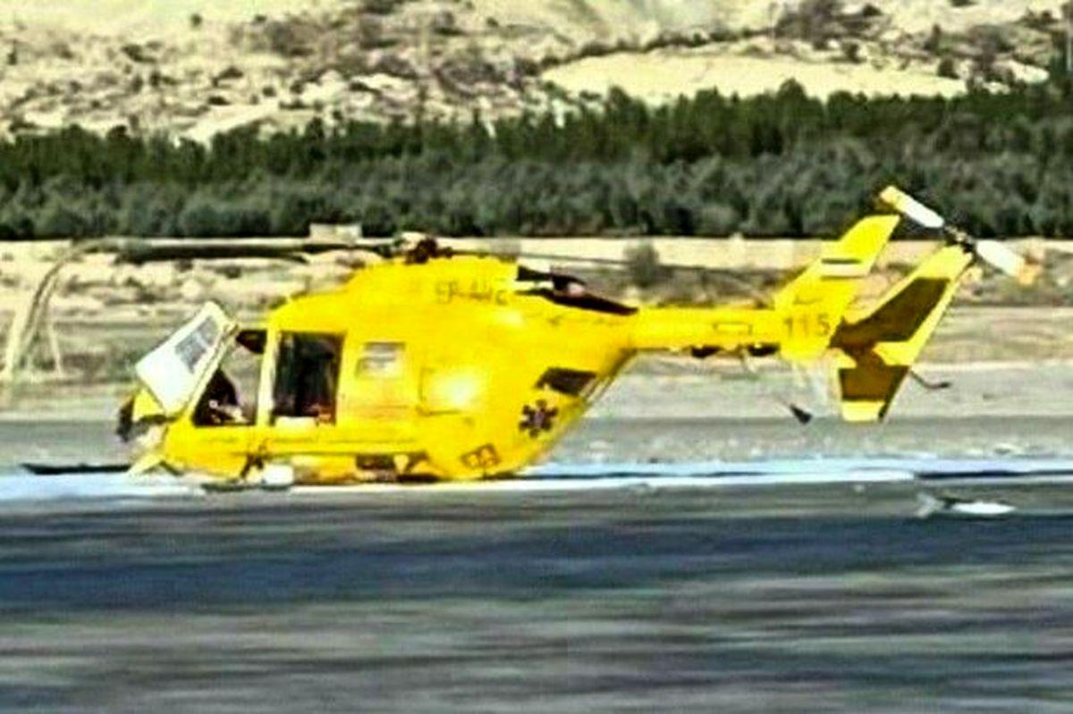 سقوط بالگرد اورژانس ایلام/حادثه تلفات جانی بدنبال نداشت