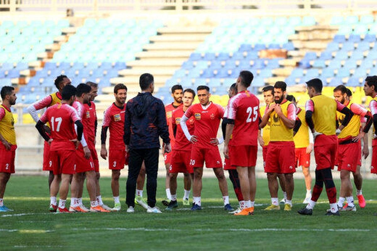 جلسه فنی پرسپولیسیها با حضور گلمحمدی