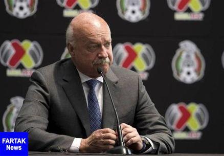 رئیس لیگ دسته اول فوتبال مکزیک کرونایی شد