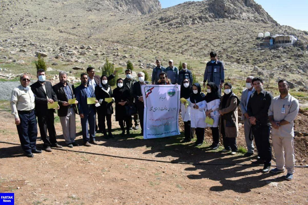 بازدید خبرنگاران از محوطه بیمارستان امام رضا (ع) و غرس درخت در دانشگاه پیام نور