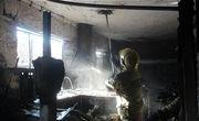 آتش سوزی مهیب در پامنار تهران