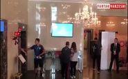 ورود تیم ملی اسپانیا به هتل و ورزشگاه کازان+فیلم