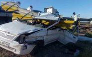 مرگ تلخ راننده پراید در برخورد با گاردریل ! + تصاویربسیار دلخراش