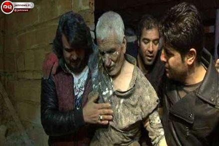 کارگر محبوس در حادثه ریزش چاه زنده خارج شد +عکس