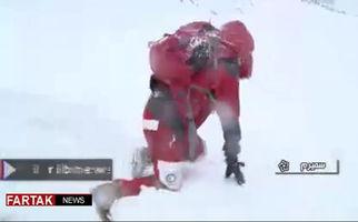 وضعیت بد امدادگران در محل سقوط هواپیما + فیلم
