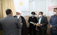 تجلیل از مدافعان خاموش در آرامستان سمنان