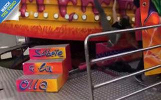 لحظه وحشتناک پرت شدن دختر نوجوان در شهر بازی!