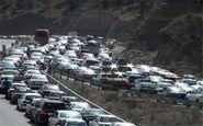 ترافیک سنگین در محور کرج-چالوس