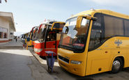  اتوبوسهای بین شهری در کرمانشاه قبل از حرکت ضد عفونی میشوند