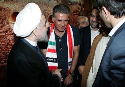دیدار صمیمانه ملیپوشان با روحانی+عکس