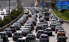 ترافیک سنگین در آزادراه تهران-کرج-قزوین و جاده چالوس