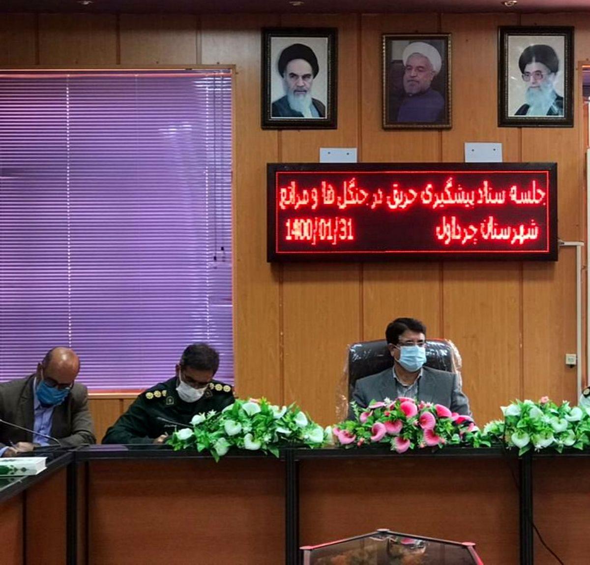 جلسه کمیته حفاظت از منابع طبیعی و اراضی ملی با محوریت پیشگیری و اطفاء حریق برگزار شد.