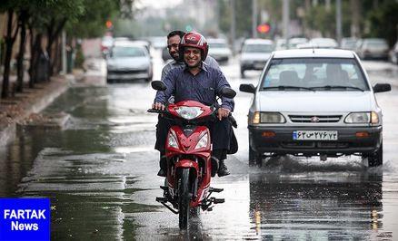 پیشبینی باران ۴ روزه در ۱۲ استان
