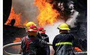 ساختمان ۵ طبقه در کامرانیه آتش گرفت