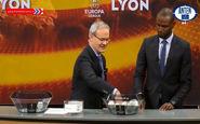مراسم قرعه کشی مرحله یک هشتم لیگ اروپا + فیلم