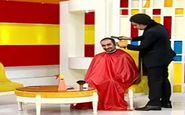 اصلاح موی مجری معروف در برنامه زنده