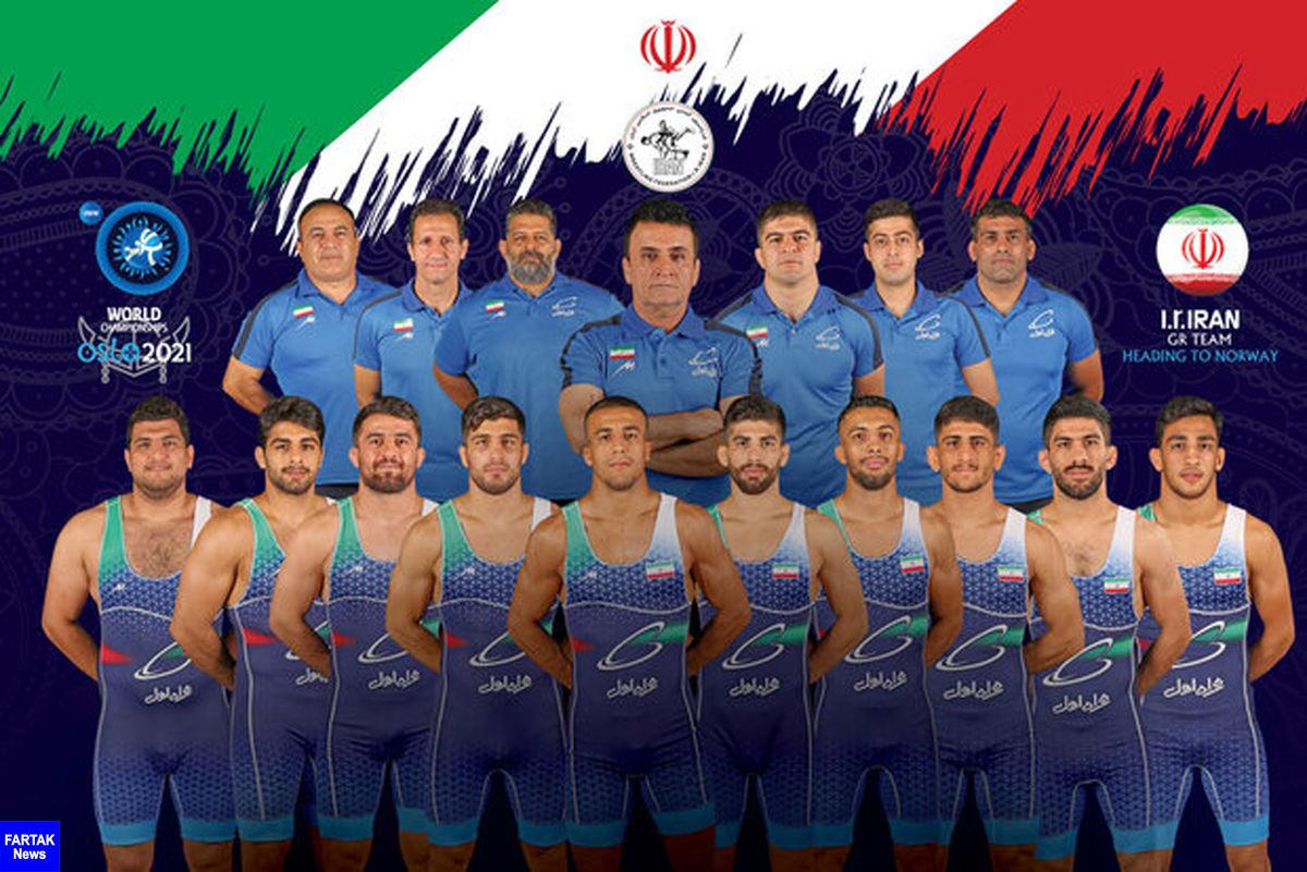 نایب قهرمانی کشتی فرنگی ایران با چهار طلا و دو برنز