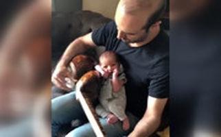 تارنوازی مهران نائل بازیگر سریال «دلدار» برای پسر نوزادش