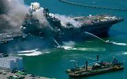 تعداد مجروحان حادثه آتشسوزی در ناو آمریکایی به ۵۷ نفر رسید