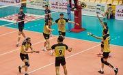 برتری تیم والیبال سپاهان مقابل شهداب یزد