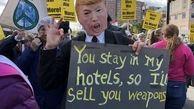 تجمع گسترده مخالفان جنگ افروزی آمریکا نزدیک مقر پنتاگون