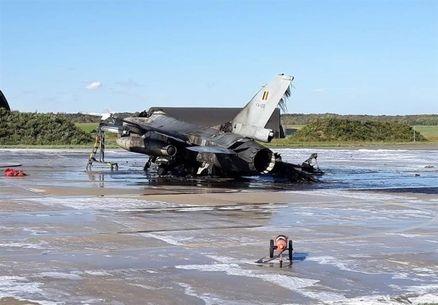 علت نابودی اف-۱۶ بلژیک؛ آتش خودی!