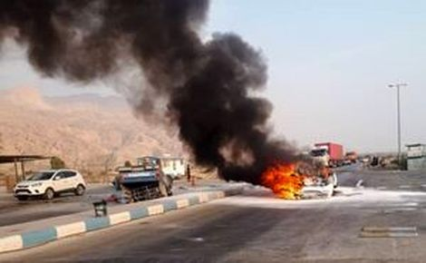 تصادف مرگبار؛ 6نفرزنده زنده در آتش سوختند