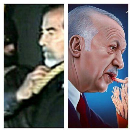 صدام، جلال طالبانی و تسبیحی برای مغفرت طلبی