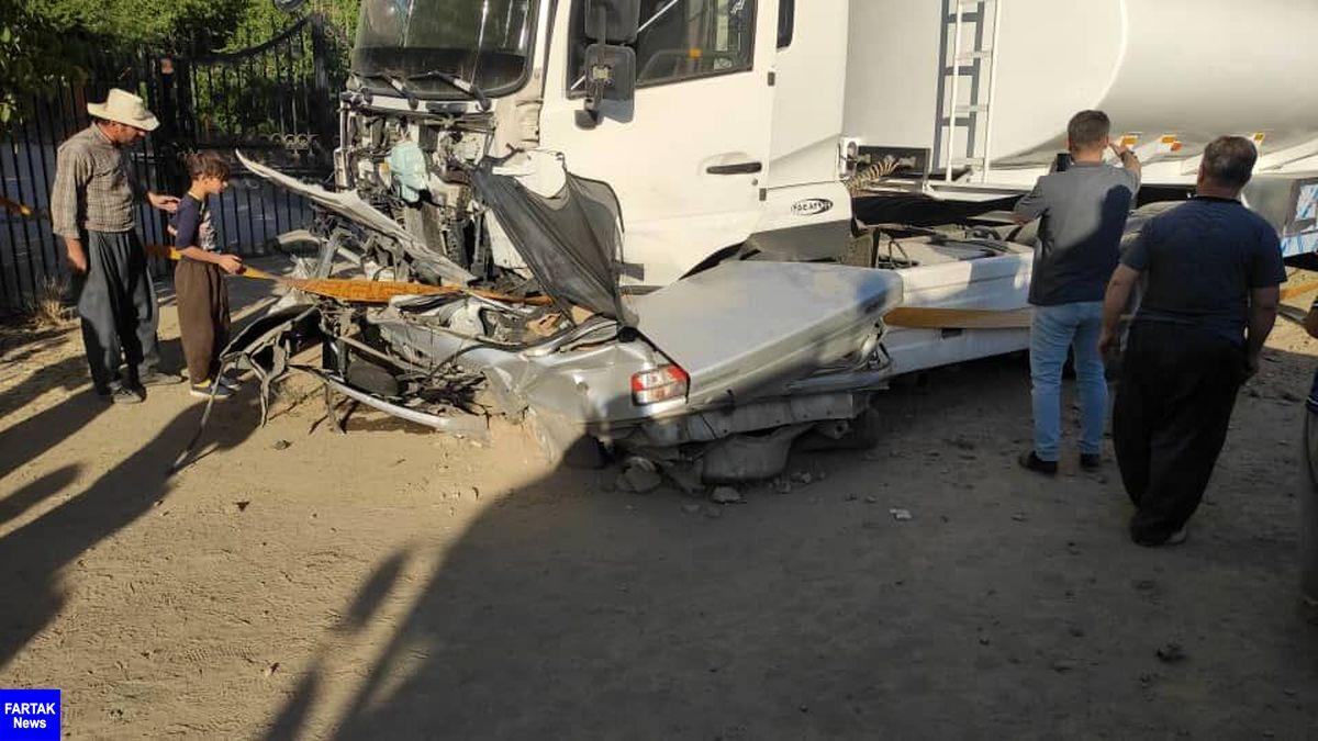 حادثه رانندگی در مرز باشماق مریوان یک کشته برجا گذاشت
