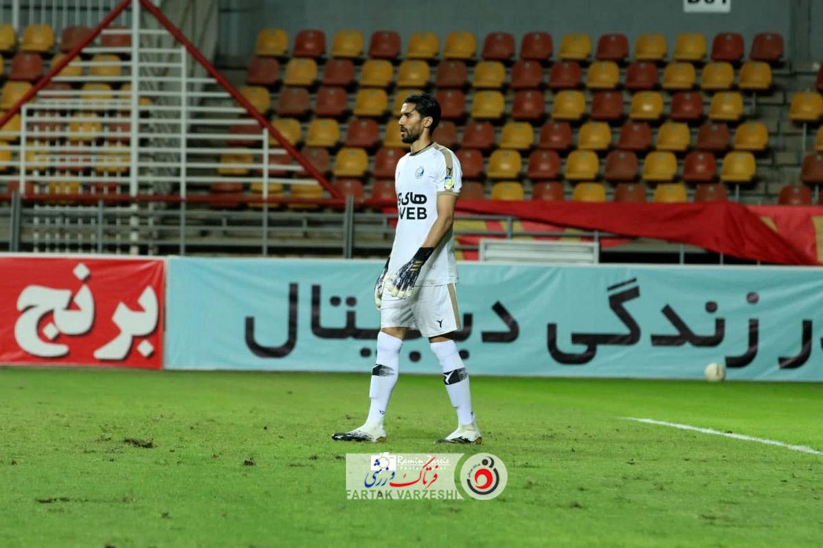 حسینی و انگیزه اولین کلینشیت مقابل الهلال (عکس)