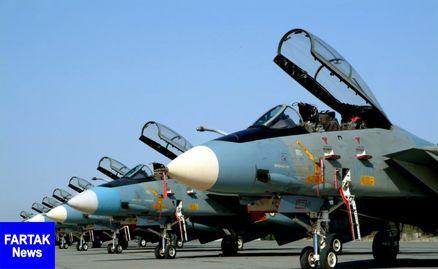 تمرین جنگنده های هوایی ارتش به مناسبت هفته دفاع مقدس