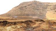 بیش از ۲۰ هکتار از اراضی قلعه تل در آتش سوخت