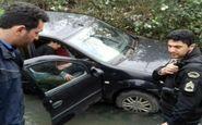 سقوط خودروی سواری به رودخانه ای در غرب گیلان حادثه آفرید