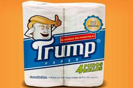 دستمال توالت «ترامپ» به بازار میآید+ عکس