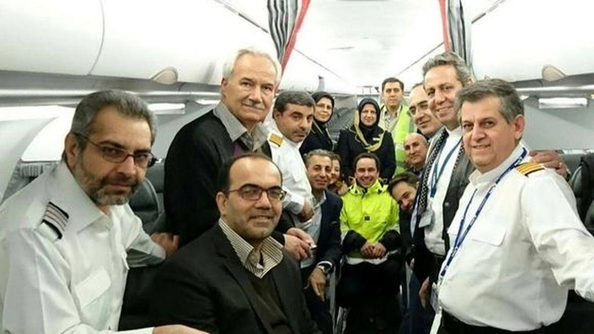 خلبانان و مهمانداران جدیدترین ایرباس ایران را ببینید+عکس