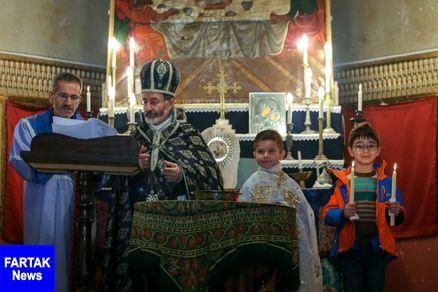 ارامنه، آیین غسل تعمید در شیراز برگزار کردند