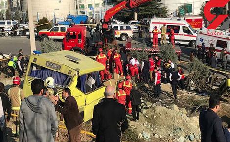 بازداشت 2 نفر به خاطر تصادف مرگبار اتوبوس دانشجویان علوم و تحقیقات