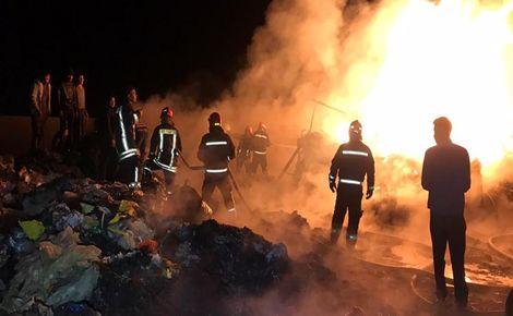 آتشسوزی در شهرک صنعتی زنجان مهار شد