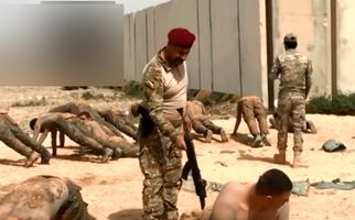 ویدئویی جالب از تمرینات نظامی سربازان عراقی