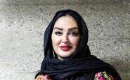 پوشش خاص «الهام حمیدی» در جشن حافظ