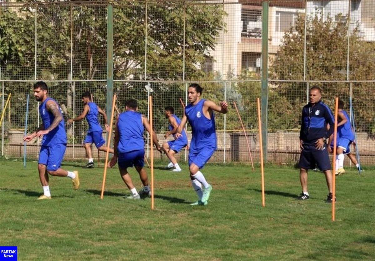گزارش تمرین استقلال  عدم حضور 4 بازیکن/ مدافع ملی پوش آبی ها برگشت