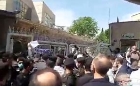 درگیری طرفداران ضرغامی با نیروهای انتظامی + فیلم