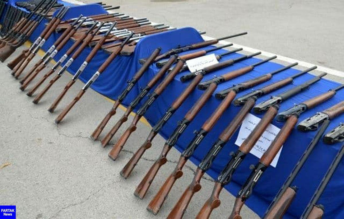 85 قبضه سلاح غیرمجاز در کرمانشاه کشف شد