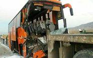 مصدومیت 12 مسافر به دلیل تصادف اتوبوس در زنجان