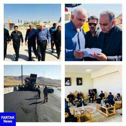  بازدید معاون سازمان راهداری و حمل و نقل جادهای کشور از پروژههای عمرانی کرمانشاه به خسروی