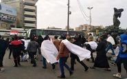 خروش مردم عراق در خیابان های بغداد برای شرکت در تظاهرات ضد اشغال